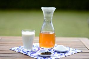Die Zutaten für das Tee-Eis