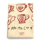 Limited NAHA Tea Towel red